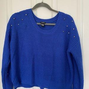Very nice blue crop sweater